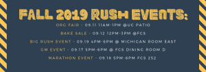 akpsi, fall 2019 rush events, alpha kappa psi, university of Michigan-dearborn, UM-Dearborn, umd, asps umd